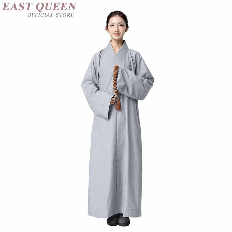僧侶のローブ服衣装少林寺の僧の服僧侶服制服瞑想服 KK2291 Y