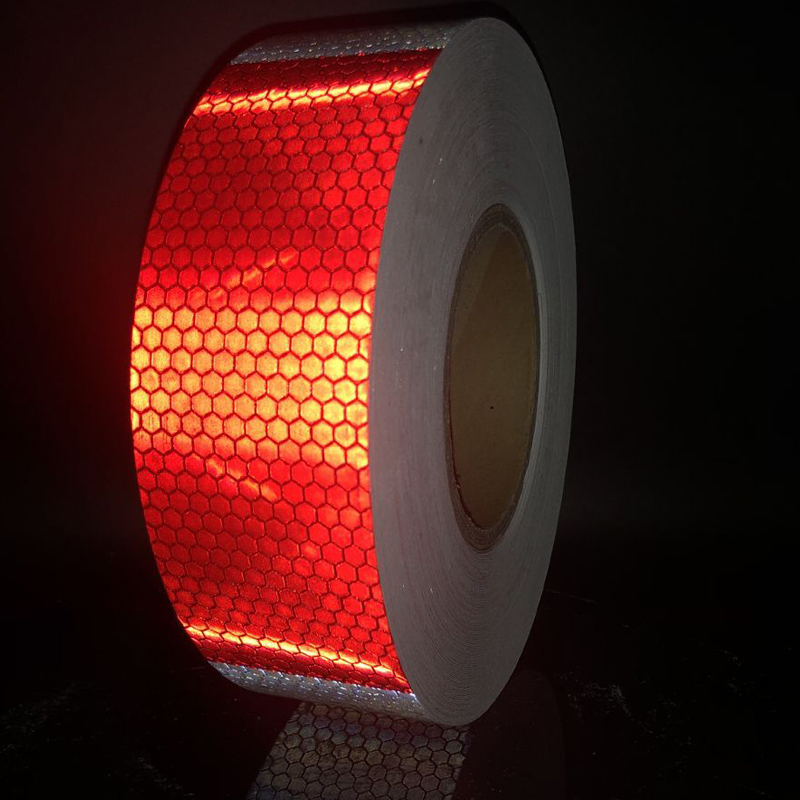 5cm width Reflective tape stickers car styling Self Adhesive Warning Tape in Reflective Material from Security Protection
