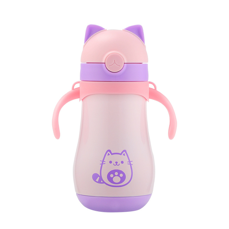 HADELI 320ml Children Thermos Water Bottle Stainless Steel Thermos Mug DrinkWare Outdoor Kid Water Bottle Cute Pattern Hot Sale in Vacuum Flasks Thermoses from Home Garden