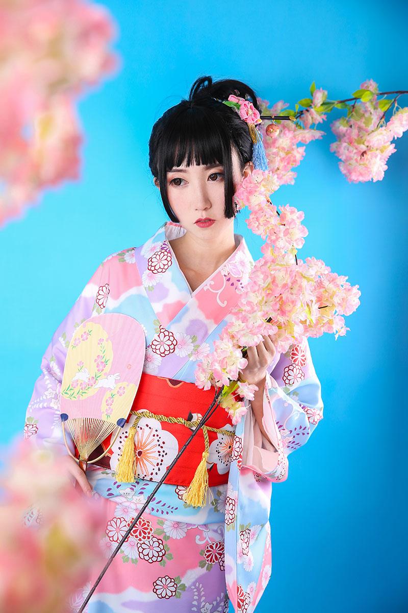 2019 New Women Kimono Traditional Japanese Long Robe Yukata 10 Pieces Set Cosplay Clothes Elegant Ladies Evening Dress Gown