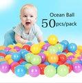50 unids bebé bola de juguete de la piscina de natación caliente segura plástico kid pit seguro al aire libre deporte jugar bolas pits para niños niños
