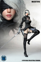 Super Duck SET015 1/6 Nil AUTOMATA 2B Sister Clothes Set for 12inch Phicen Verycool Action Figure DIY
