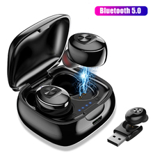 купить bluetooth earphone wireless headphones in ear gaming headset waterproof stereo true wireless earbuds earphones with microphone дешево