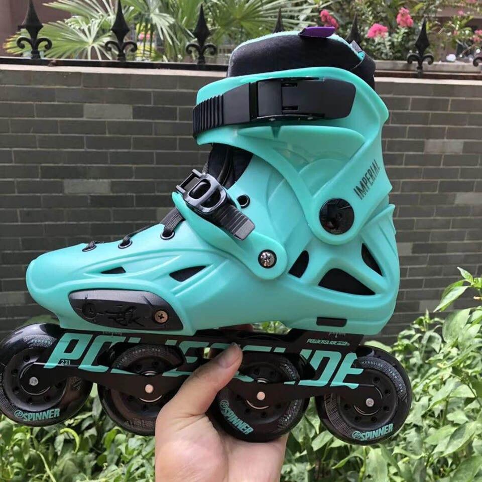 100% D'origine 2018 Powerslide Impériale roller-skates Professionnel Slalom roller-skates Rouleau Livraison chaussures de patinage Coulissante Patines - 3