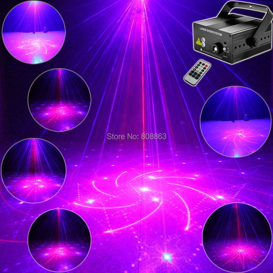Mini 300mw Blue Red Laser 40 Patterns Projector Blue Led Remote DJ Lighting Dance Xmas Disco Club Party Stage Light Show LB16 new mini red blue line pattern gobo remote laser projector dj club light dance bar party xmas disco effect stage lights show b55