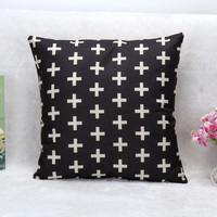 Customized Chair Pillows Cross Pure Black Graphic Pillow Covering Home Wedding Supplies 45CM 45CM 1 Side