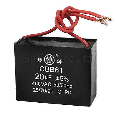 online get cheap fan motor capacitor wiring aliexpress com cbb61 ac 450v 50 60hz 20uf 5% 2 wired ceiling fan motor running capacitor black