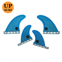 Upsurf Future base surfboard fin G5+GL future blue colour orange upsurf logo