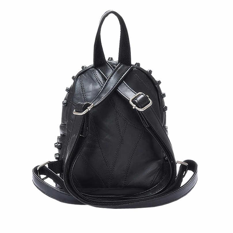 Для женщин кожаный рюкзак школьный портфель для подростков для девочек подростков женская школьная сумка Мини Женский sac dos femme