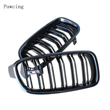 Suitable for BMW 3 Series Modified M Network F30F80E93 Parallel Bar Bright Black Mesh Fence Front Medium