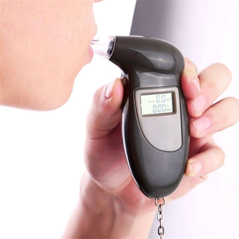 Professional Police Breath-Alcohol Tester LCD Digital Breathalyser Analyzer PSH