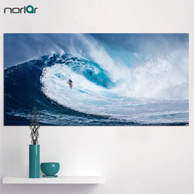 Grande Taille Hd Imprimé Hommes Eau Humide Surf Peinture Toile