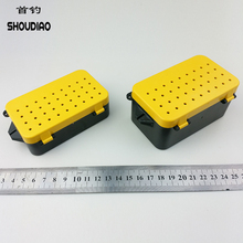 SHOU DIAO High Quality Plastic Fishing Tackle Box Waterproof Fly Lure Spoon Bait Boxs Double Layer Storage Case