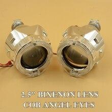 2.5 дюйма спрятал объектив Проектора привело день подряд angel eyes прокат Bi xenon hid ксенона H1 H4 H7 hid объектив проектора фар