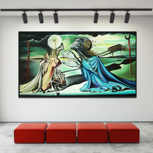 Salvador Dalì Gave A Tristan An Insult Canvas Posters Prints Oil Painting Wall Picture For Office Bedroom Home Decor Accessories