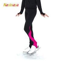 Aangepaste kleren schaatsen lange broek figuur schaatsen broek broek fleece volwassen kind meisje tonen kleding prestaties blauw