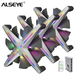 Image 1 - Alseye X12 Rgb Ventilatore 3 Pezzi 120 Millimetri Pc Fan Set con Controllo Romote Compatibile con Asus Gigabyte Msi Scheda Madre rgb di Controllo
