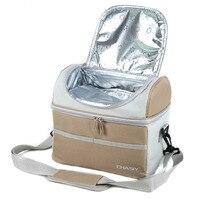 CHASIY Thermo Mittagessen Taschen Tragbare Thermische Lunchpaket für Kinder Picknick Lebensmittel Tasche Kühler Isoliert Leinwand Lebensmittel Tasche Bolsas Termicas