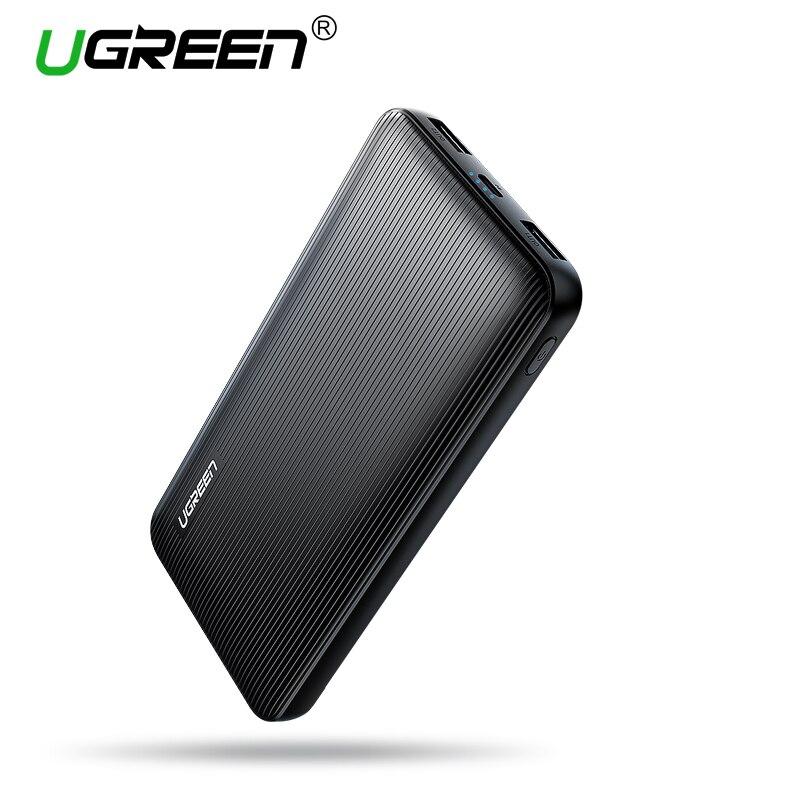 Ugreen Banco Portable 10000 mAh Dual USB Powerbank cargador de batería externa Pack para Xiaomi Mi6 Samsung S9 Nota 8 poverbank