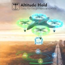 Детские игрушки Мини RC Квадрокоптер 360 градусов вращение Безголовый режим ночной светодио дный светодиодный световой Дрон подарок