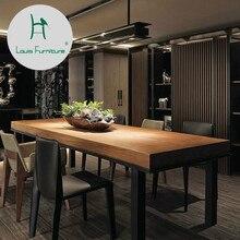 Луи Мода кафе столы скандинавские твердой древесины старая столовая маленькая квартира кофе антикварная железная