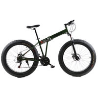 Fat Bike 21 Speed Folding Mountain Bike 4 0 Super Wide Tire Snow Beach Car Male