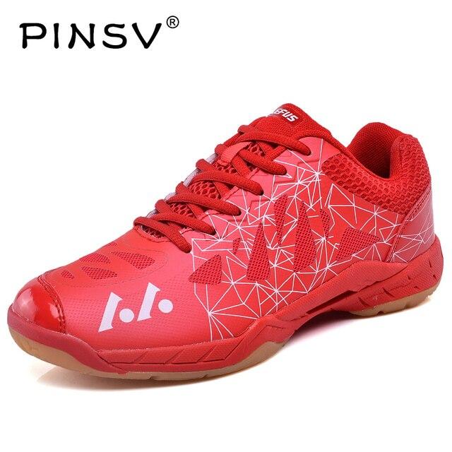 PINSV Brand Sneakers Men Luxury Badminton Shoes For Men 2018Badminton Shoes  Women Sport Shoes Men eb023f1508