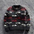 Nuevo 2016 Fish Kids movimiento tejer Cardigans Cálidos Suéteres de Algodón Jersey Camisetas Tops ropa Para Niños SOU-026