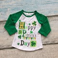 baby boys cotton St Patrick day boutique children Happy St Patrick's day raglans party cotton raglans
