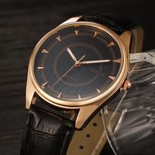 цена на Yazole Luxury Watch Men Retro Design Waterproof Leather Quartz Wristwatch Mens Watch reloj hombre relogio masculino Original