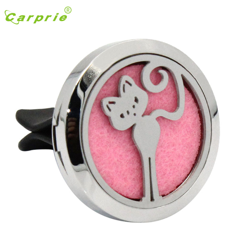 Dropship Hot Selling Standing kitten Stainless Car Air Auto Vent Freshener Essential Oil Diffuser Locket Decor Gift Aug 24
