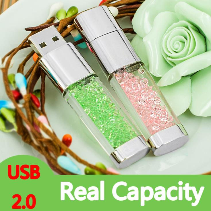 100% Real Capacity Jewelry Crystal Diamond Flash Memorystick Sieraden - Externe opslag - Foto 2