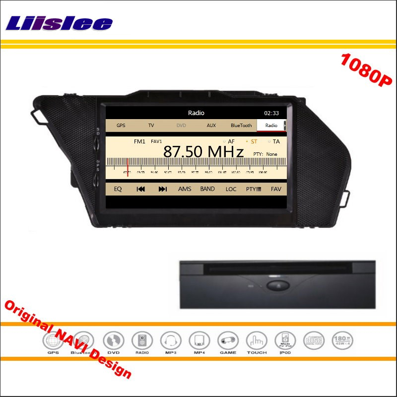 Liislee For Mercedes Benz GLK X204 2013~2014 Car Radio CD DVD Player GPS Navigation 1080P HD Screen System Original NAVI Design