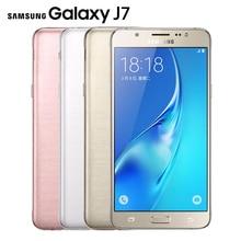 "D'origine Samsung Galaxy J7 J7108 (2016) 4G LTE Mobile téléphone Octa base 5.5 ""13.0MP 3G RAM Dual SIM NFC Smartphone"