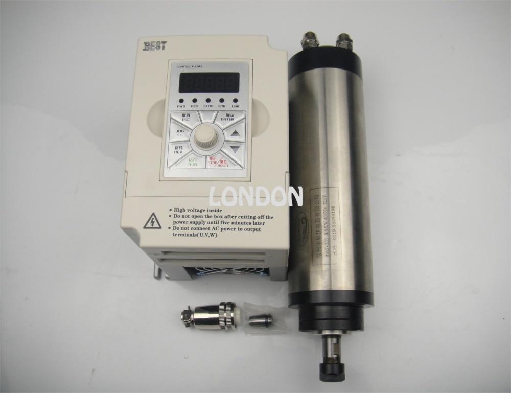 Zestaw wrzeciona CNC Silnik wrzeciona chłodzący wodę ER11 800 w + falownik 1,5 kW