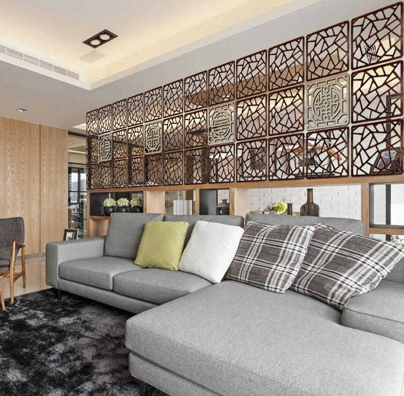 Твердой древесины современная плитка минималистский гостиная раздела щит вход на стене спальни складной стеновые панели декоративные