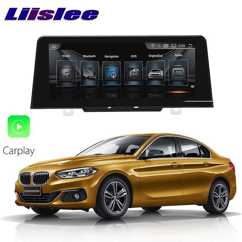 LiisLee voiture multimédia GPS Audio Hi-Fi Radio stéréo pour BMW 1 série M1 F52 2017 2018 Original NBT Style Navigation NAVI