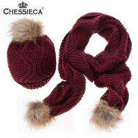 Fashion Christmas Gift Hat Scarf Autumn Winter Woman Warm Scarves Diamond Shape Wool Knitted Hats Crochet
