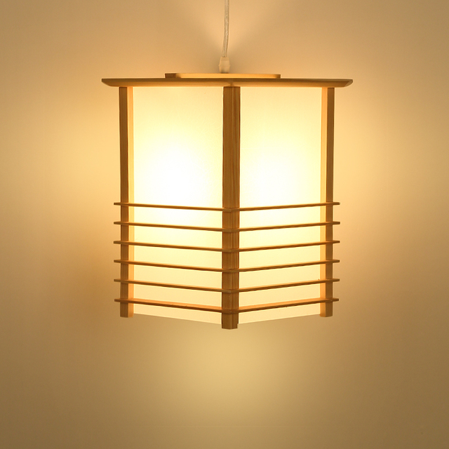 Japanese Pendant Lights Washitsu Tatami Decor Window Pane Shoji Lamp Restaurant Living Room Hallway Japan Lighting