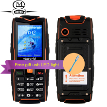 VKworld NEW V3 IP68 Russian keyboard waterproof shockproof Mobile phone 3000mAh battery FM flashlight 3 sim outdoor cell phones