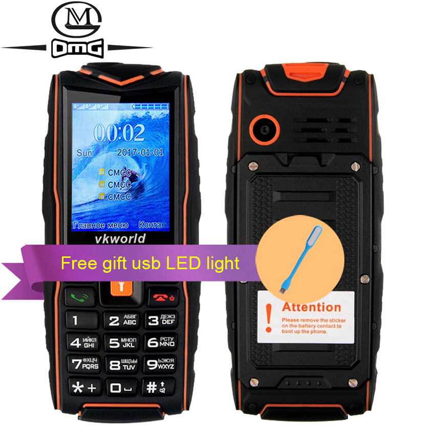 VKworld NEW V3 IP68 Russian keyboard waterproof shockproof Mobile phone 3000mAh battery FM flashlight 3 sim outdoor cell phones