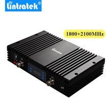 Усилитель сигнала AGC MGC с ЖК дисплеем, 75 дБ, 4G LTE, 1800 МГц + 3G, 2100 МГц, двухдиапазонный мощный ретранслятор сигнала для мобильных телефонов 1800 + 2100 МГц