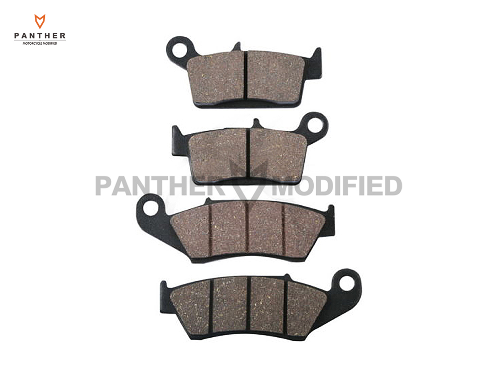 4 Pcs Motorcycle Front Rear Brake Pads case for SUZUKI RM 125 250 RM125 1999 RM250 2000 DR-Z 400 DRZ400 DR 650 1996-2000 motorcycle rear brake pads fit for malaguti madisont 125 250 f18 spidermax rs scarabeo300 password250 r125 phantommax