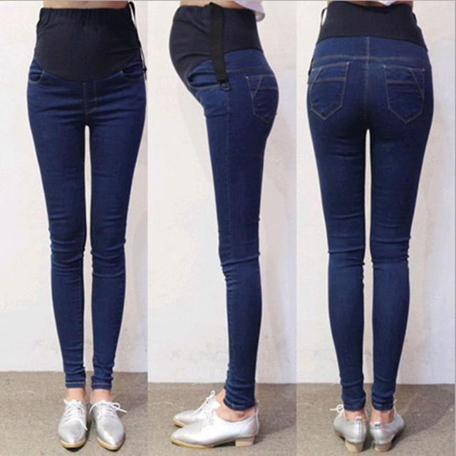 085642c12 Nuevos Pantalones De Maternidad Embarazadas Jeans Para Mujeres Embarazadas  Vientre Prop Pantalones Flacos del Dril de