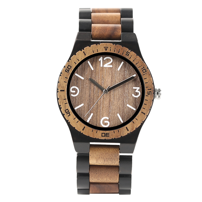 0b5619609bcf 2018 Simple Handmade Nature Wooden Quartz Wrist Watch Men Bracelet Fashion  Creative Novel Father's Day Gifts Relogio Masculino