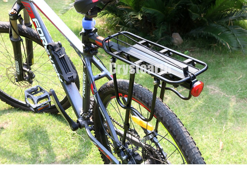 Crystearth Bike Rack Bicycle Luggage Carrier Cargo Rear Rack Reflector Shelf Cycling Seatpost Bag Holder Stand Bicycle Racks free indoor exercise bicycle trainer 6 levels home bike trainer mtb road bike cycling training roller bicycle rack holder stand