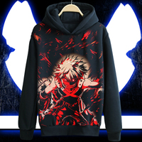 Anime Boku No Hero Academia Hoodie My Hero Academia TODOROKI SHOTO All Might Black Casual Coat