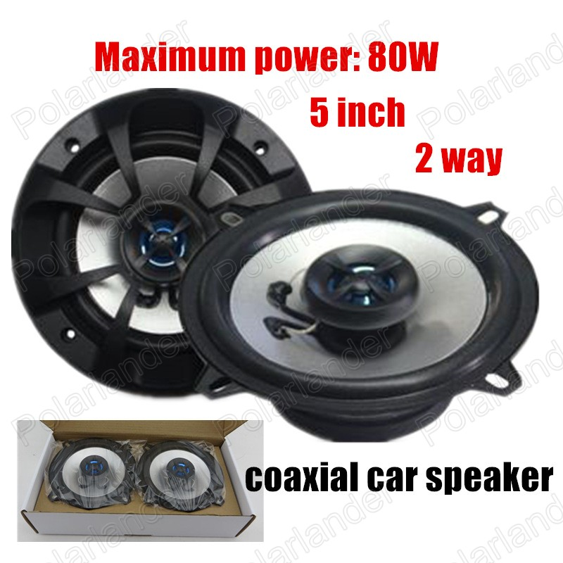 2 way 2x80W foam edge common to all vehicles 2x5 inch coaxial car speaker hot sale car audio speaker car stereo speaker