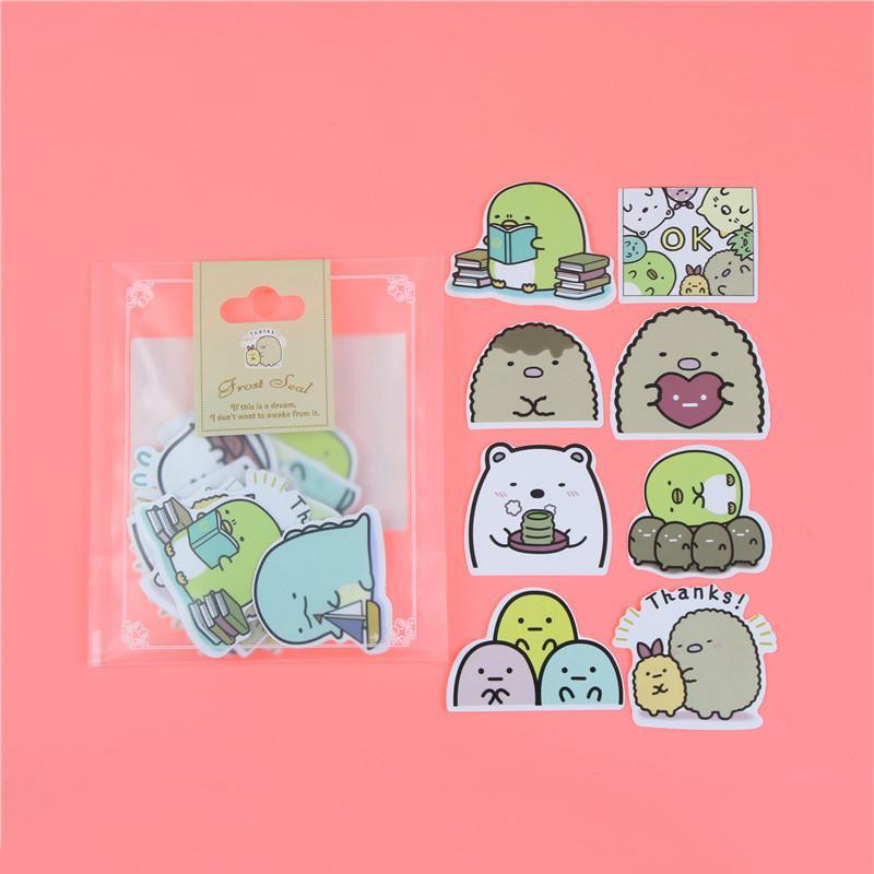 1 пакет, милые Мультяшные декоративные наклейки в Корейском стиле, клейкие наклейки, скрапбукинг, сделай сам, декоративные наклейки для дневника - Цвет: E