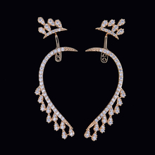 SisCathy Luxury Full Cubic Zirconia Earrings Charms Gold Stud Statement For Women Ear Jewelry Accessories